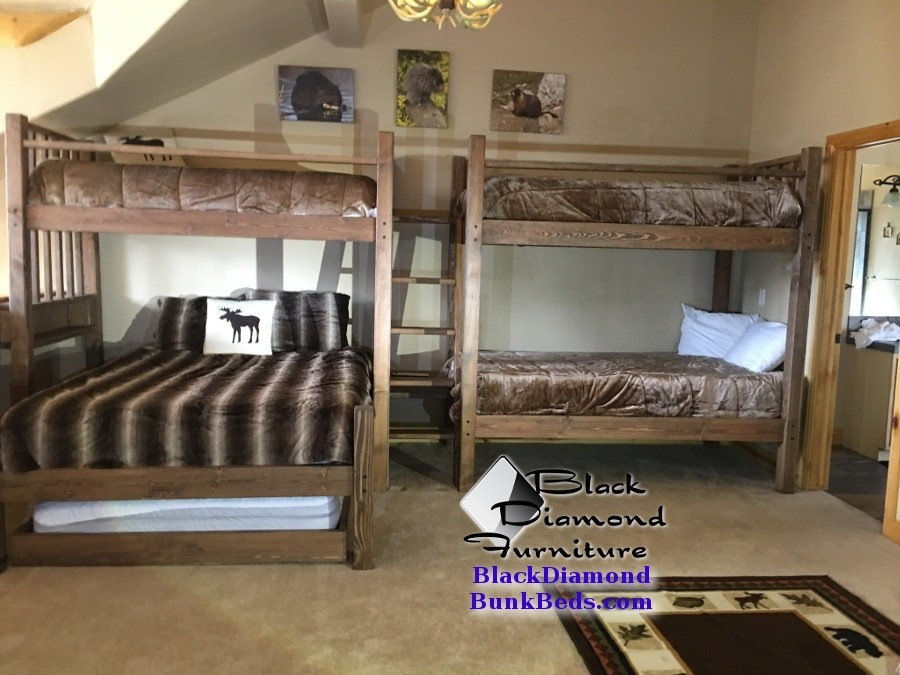 Mountain Resort Quad Custom Bunk Bed