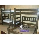 Cedar Panel Quad Bunk Bed